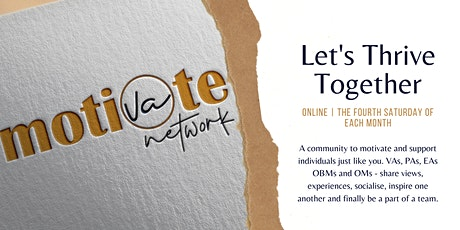 "Online Networking - ""Let's Thrive Together"" tickets"