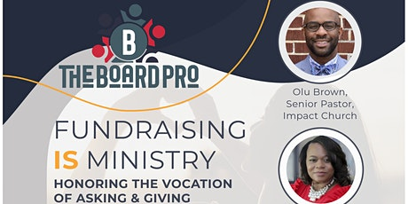 Fundraising Is Ministry tickets