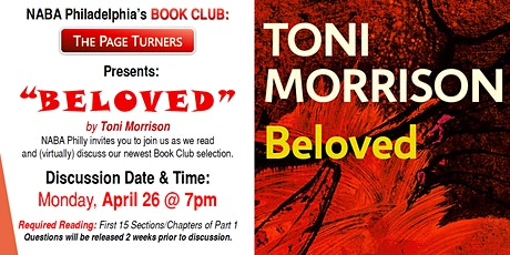 """NABA Philly Book Club discusses Toni Morrison's """"BELOVED"""" tickets"""