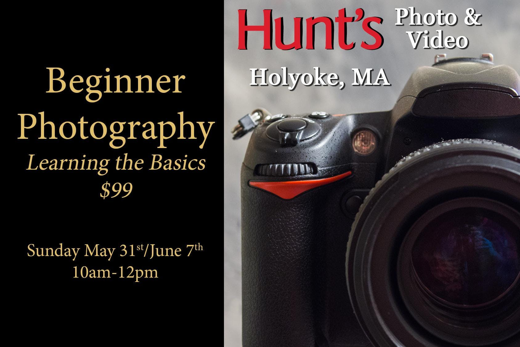 Beginner Photography- Holyoke Only