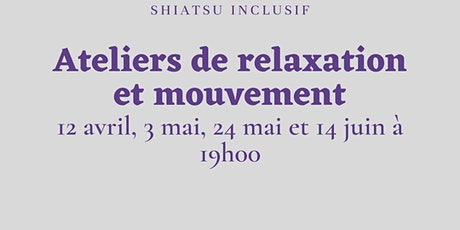 Ateliers relaxation et mouvement tickets