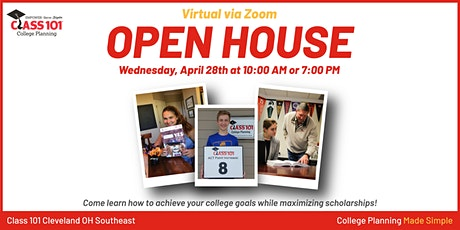 Class 101 College Planning Virtual Open House tickets