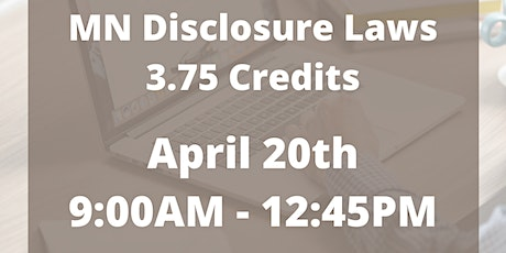 MN Required Module - MN Disclosure Laws - 3.75 Credits tickets