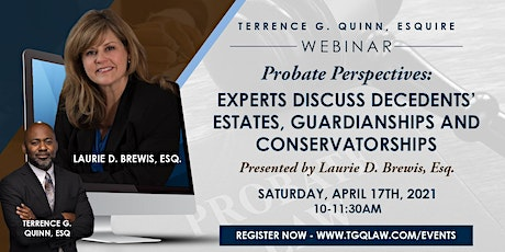 Probate Perspectives: Decedents, Estates, Guardianships and Conservatorship tickets