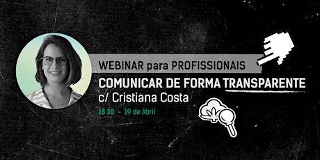 Webinar:  COMUNICAR DE FORMA TRANSPARENTE entradas
