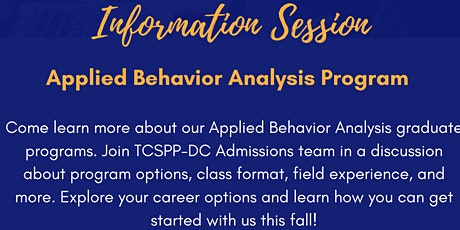 Applied Behavior Analysis Program Information Session tickets
