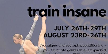 Train Insane: August - Mini tickets