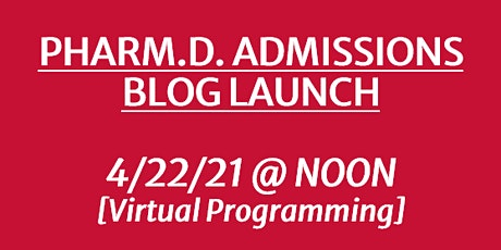UGA PHARMACY: Admissions Blog Launch tickets