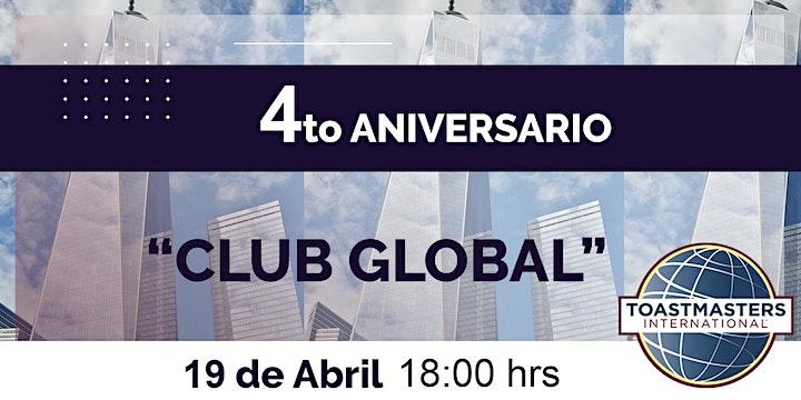 "Imagen de 4to Aniversario Toastmaster ""Club Global"""