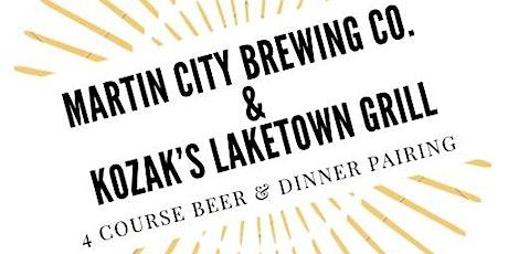 Martin City & KoZak's Laketown Grill beer dinner tickets