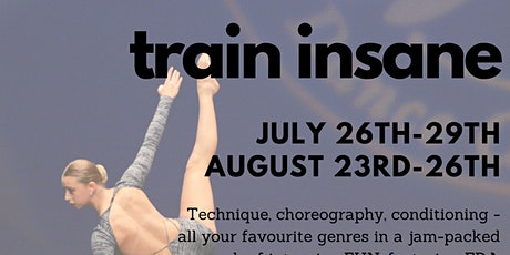 Train Insane: August - Junior/Youth tickets
