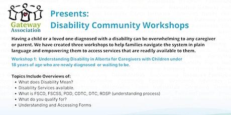 Workshop 1:  Understanding Disability in Alberta tickets