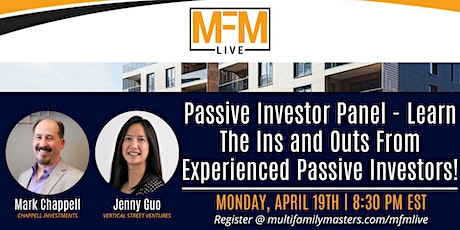 Passive Investor Panel - Learn The Ins and Outs From Passive Investors tickets