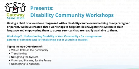 Workshop 2: Understanding Disability in Your Community tickets