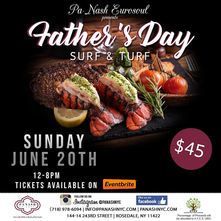 Father's Day Weekend Surf & Turf Event image