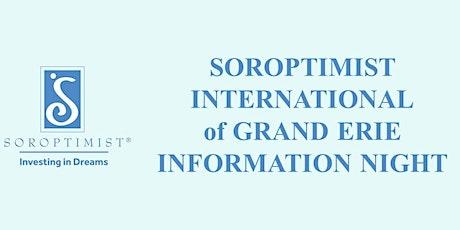 Soroptimist Information Night tickets