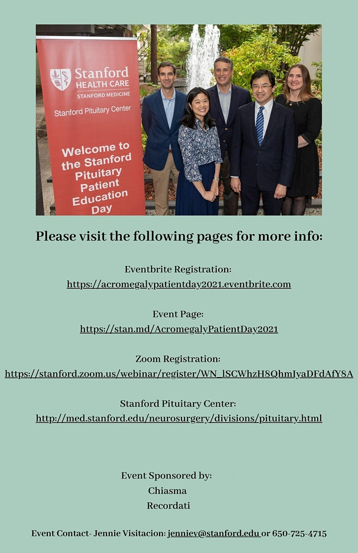 Stanford Acromegaly Patient Education Day- Virtual image