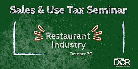 Sales & Use Tax Seminar:  Restaurant Industry tickets
