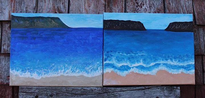 Paint Your Own Nova Scotia Beach Scene image