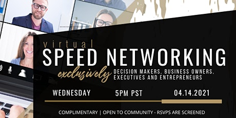 CONNECTING VIRTUALLY – Virtual Speed Networking tickets