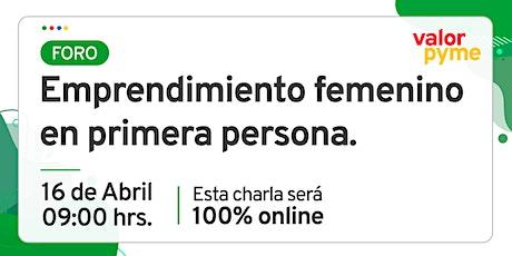 Foro: Emprendimiento femenino en primera persona entradas