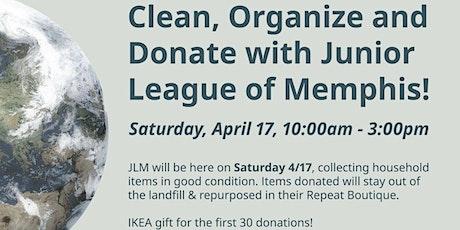 Clean, Organize, Donate: IKEA  + Junior League of Memphis, April 17th tickets