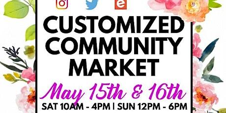 Customized Community Market tickets
