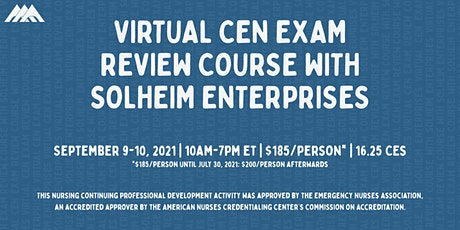 Solheim's Virtual CEN Exam Review Course | September 2021 tickets