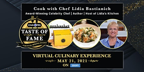 Taste of Fame Live Virtual Event with Chef Lidia Bastianich ingressos
