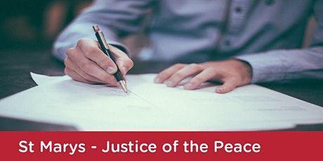 Justice of the Peace: St Marys Library - Thursday 15th April 2021 tickets