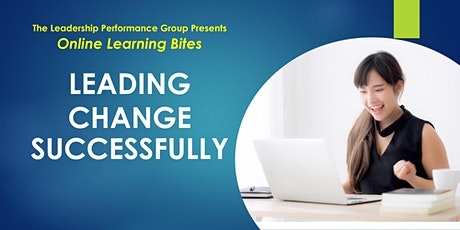 Leading Change Successfully (Online - Run 9) tickets