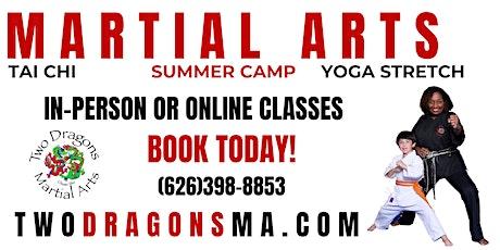 New Student Martial Arts Classes tickets
