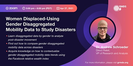 Women Displaced-Using Gender Disaggregated Mobility Data to Study Disasters tickets