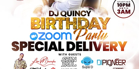 DJ QUINCYS ZOOM BIRTHDAY PARTY SPECIAL DELIVERY tickets