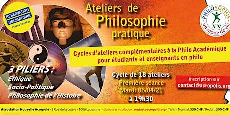 Cycle de 18 ateliers de Philo à Vivre. Etudiants et formateurs en Philo billets