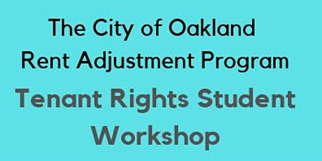 Tenant Rights Student Workshop tickets