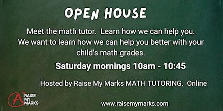 Online Open House - Meet the Math Tutor tickets
