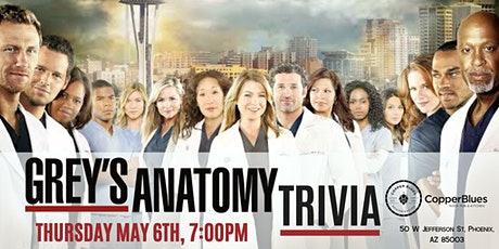 Grey's Anatomy Trivia at  Copper Blues Rock Pub & Kitchen tickets