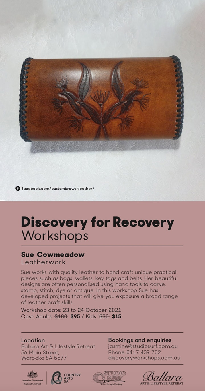Leatherwork  - Discovery Workshop with Sue Cowmeadow image