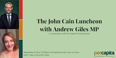 John Cain Luncheon: Andrew Giles MP tickets
