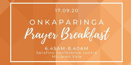 Onkparinga Prayer Breakfast 2021 tickets
