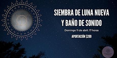 Siembra de Luna Nueva y Baño de Sonido boletos