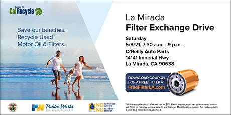 La Mirada FREE Oil Filter Exchange Drive tickets