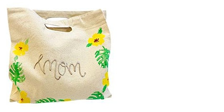 Mommy Stamped Canvas Tote Bag- Hilo tickets