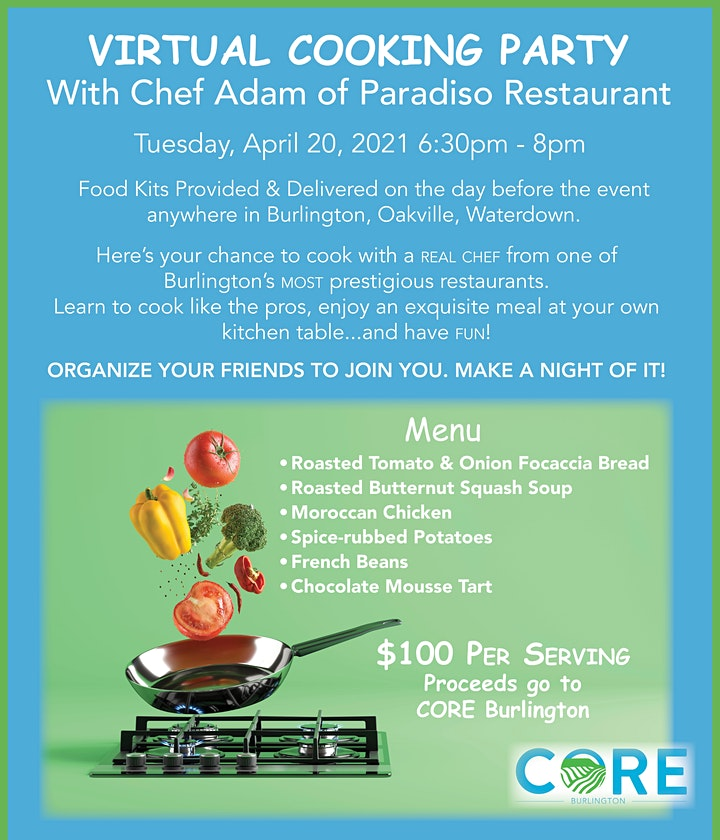 Cooking with Paradiso Restaurant - fundraiser for CORE Burlington image