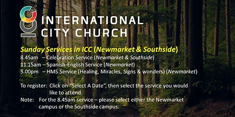 Services in International City Church (Newmarket & Southside Campus) tickets