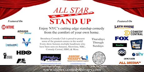 Broadway Comedy Club - All Star Stand Up - April 24th tickets