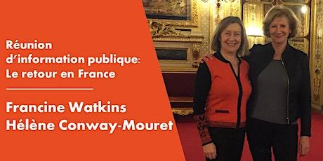 Réunion d'information publique virtuelle sur le thème du Retour en France billets