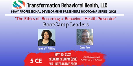 The Ethics of Becoming a Behavioral Health Presenter (Trainer) tickets