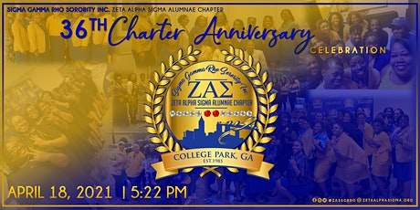 Zeta Alpha Sigma 36th Charter Anniversary tickets